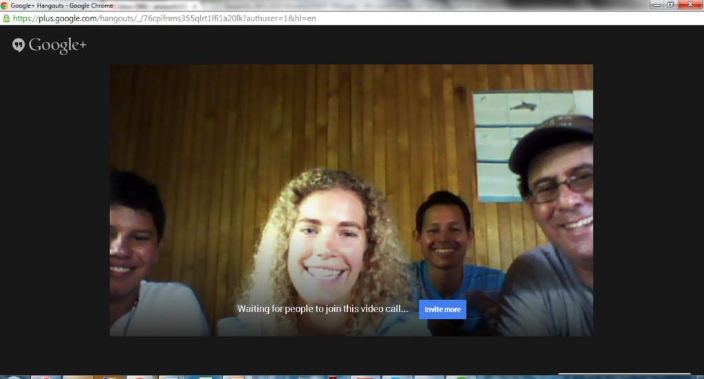 Google+ Hangouts - BahiaBallena GIS Day 2013 - Geoporter
