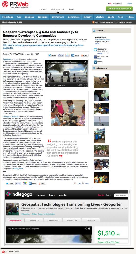 Geoporter Press Release Dec 2013