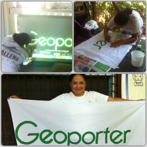 Luz and her creation of our new Geoporter sign